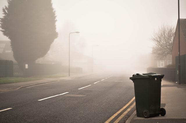 bin on a uk street