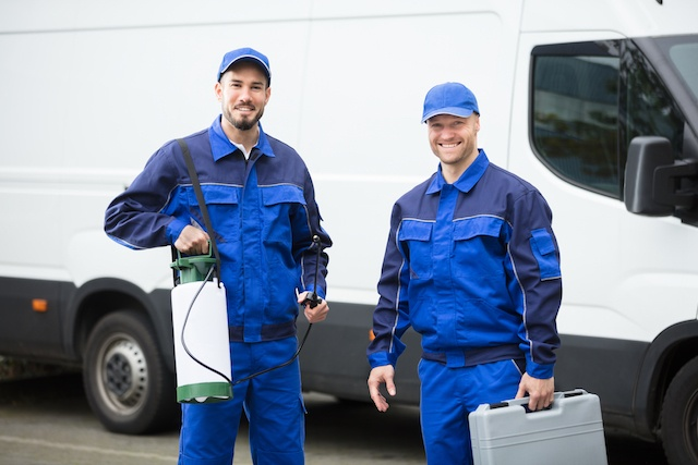 Portrait Of Two Pest Control Workers